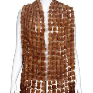 Luxurious Adrienne Landau 100% Mink Fur Scarf 🧣